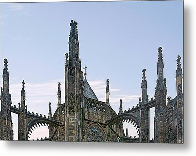 A Forest Of Spires - St Vitus Cathedral Prague Metal Print by Christine Till