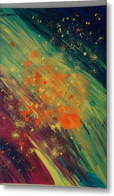 Metal Print featuring the painting A New Day by Kristine Bogdanovich