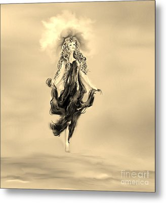 Metal Print featuring the painting A Timeless Dream by Lori  Lovetere