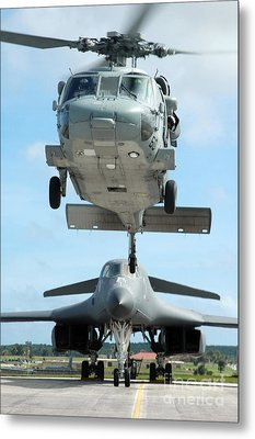 A U.s. Navy Mh-60s Seahawk Helicopter Metal Print by Stocktrek Images