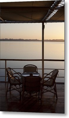 A View From A Cruise Ship On Lake Metal Print by Taylor S. Kennedy