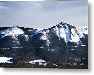 A View Of Snowy Mountains From Pikes Peak Metal Print by Ellie Teramoto