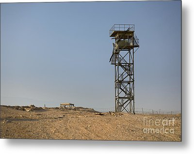 Abandoned Watchtower In The Desert Metal Print by Noam Armonn