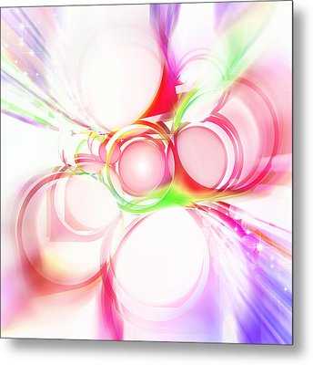 Abstract Of Circle  Metal Print by Setsiri Silapasuwanchai
