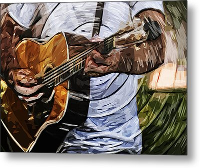 Acoustic Blues Metal Print by Tilly Williams