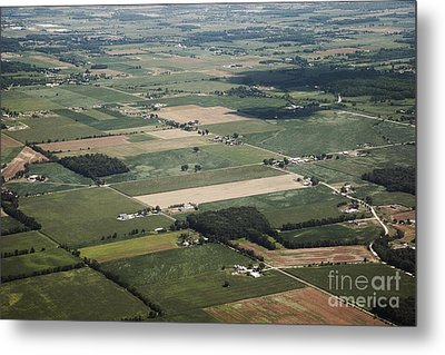 Aerial View Of Landscape Metal Print by Shannon Fagan