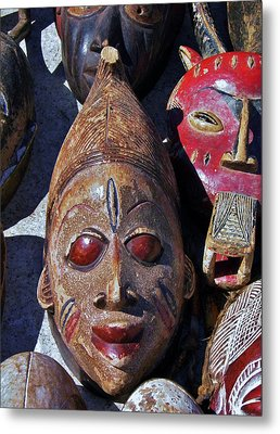Metal Print featuring the photograph African Mask by Werner Lehmann