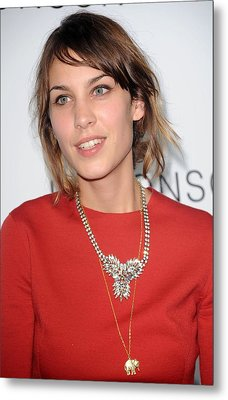 Alexa Chung At Arrivals For The Metal Print by Everett