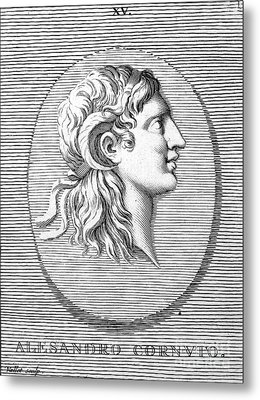 Alexander The Great (356-323 B.c.) Metal Print by Granger
