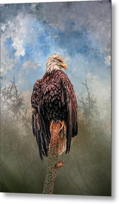 Metal Print featuring the digital art American Bald Eagle by Mary Almond