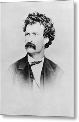 American Writer Mark Twain, Aka Samuel Metal Print by Everett