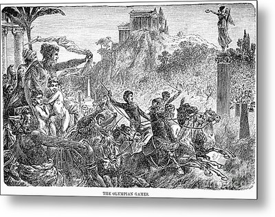 Ancient Olympic Games Metal Print by Granger