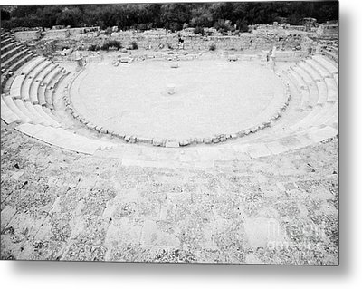 Ancient Site Of Roman Theatre At Salamis Famagusta Turkish Republic Of Northern Cyprus Trnc Metal Print by Joe Fox