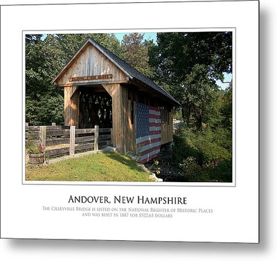 Andover Nh Historical Bridge Metal Print by Jim McDonald Photography