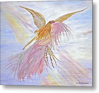 Angel-keeper Of The Rainbow Metal Print by Joy Braverman