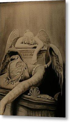 Metal Print featuring the painting Angel Of Grief  by Teresa Beyer