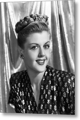 Angela Lansbury, 1945 Metal Print by Everett