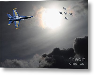 Angels In The Sky Metal Print by Wingsdomain Art and Photography