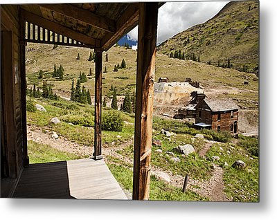 Animas Forks Crosshatch Metal Print