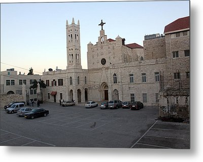 Annunciation Latin Church In Beit Jala Metal Print by Munir Alawi