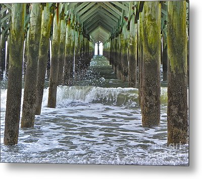 Metal Print featuring the photograph Apache Pier by Eve Spring