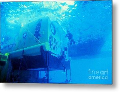 Aquarius Underwater Ocean Laboratory Metal Print by Science Source