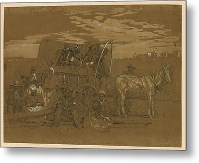 Arrival Of An African American Family Metal Print by Everett