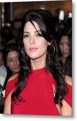 Ashley Greene At Arrivals For The Metal Print by Everett