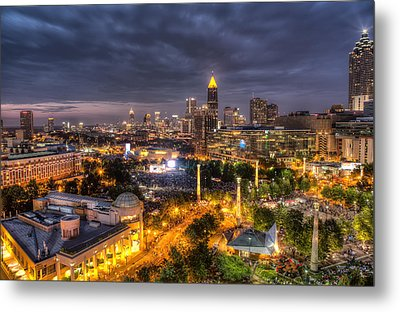 Atlanta Skyline Metal Print by Anna Rumiantseva