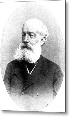 August Kekul�, German Organic Chemist Metal Print by Science Source