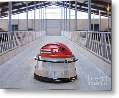 Automated Feed Pusher Metal Print by Jaak Nilson