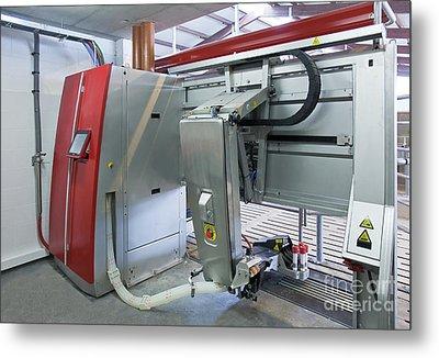 Automatic Milking Machine Metal Print
