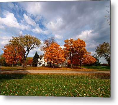 Autumn Is Colorful Metal Print by Paul Ge