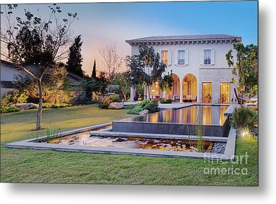 Backyard Of Upscale Residence Metal Print by Noam Armonn