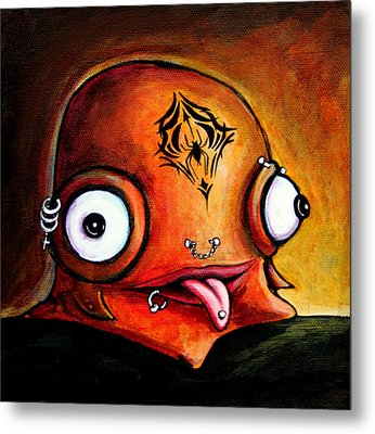 Metal Print featuring the painting Bad Boy Glob by Leanne Wilkes
