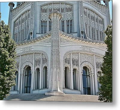 Bahai Temple Wilmette Metal Print by Rudy Umans