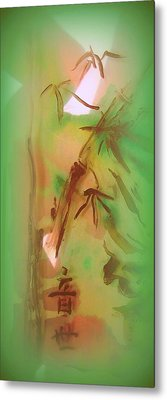 Bamboo After Rain Metal Print by Wendy Wiese