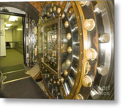 Bank Vault Interior Metal Print by Adam Crowley