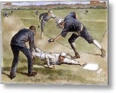 Baseball Game, 1885 Metal Print by Granger