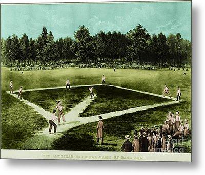 Baseball In 1846 Metal Print by Omikron