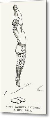 Baseball Player, 1889 Metal Print by Granger