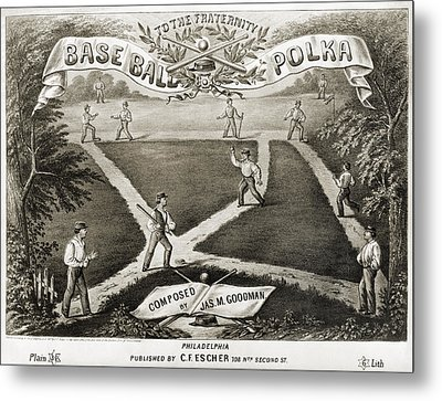 Baseball Polka, 1867 Metal Print by Granger
