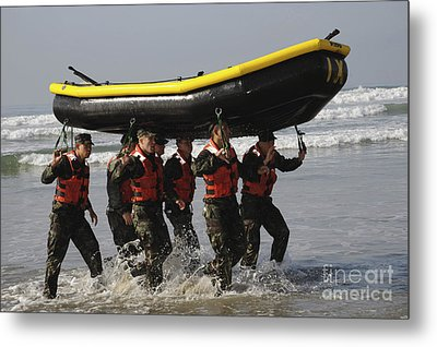 Basic Underwater Demolitionseal Metal Print by Stocktrek Images