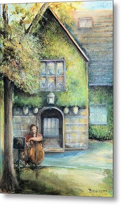 Bass Fiddle At Ford Gala I Metal Print by Bernadette Krupa