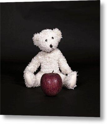 Bear And Apple Metal Print by Joana Kruse