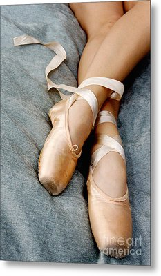 Beauty Is The Pointe Metal Print by Kim Fearheiley