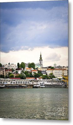 Belgrade Cityscape On Danube Metal Print