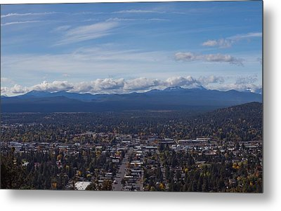 Bend Oregon From Pilot Butte Metal Print by Twenty Two North Photography