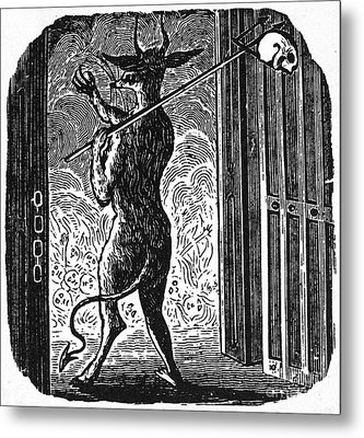 Bewick: Devil Metal Print by Granger