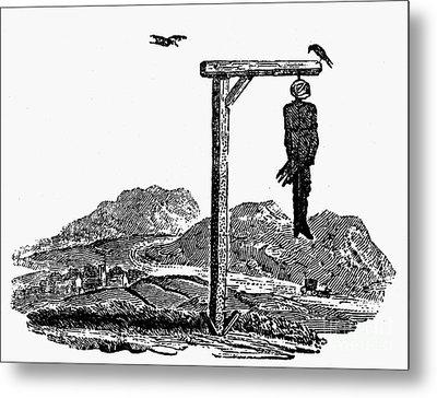 Bewick: Hanged Man Metal Print by Granger
